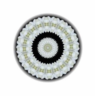 White rose kaleidoscope photo cutout
