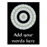 White rose kaleidoscope post cards