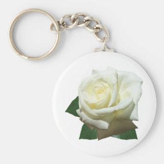 White Rose Keychains