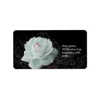 White rose label