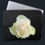 "white rose laptop sleeve<br><div class=""desc"">close up one white rose on black background</div>"