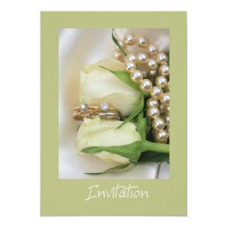 white rose lesbian wedding invitation