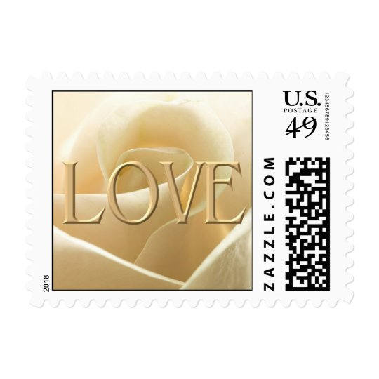 White Rose Love postage stamps