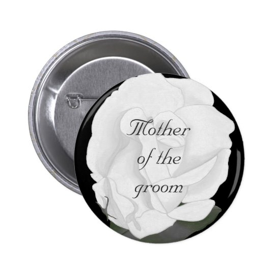 White rose, Mother of the groom, button