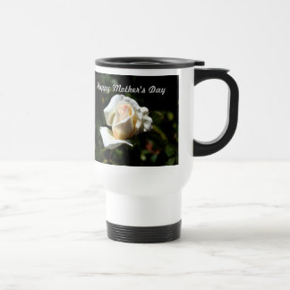 White Rose Mothers Day Travel Mug