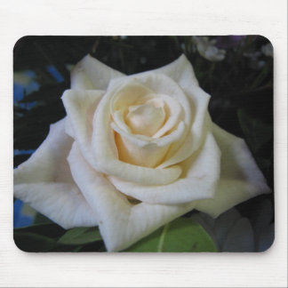 White Rose Mouse Pads