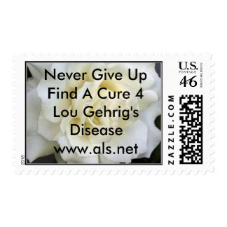 White_Rose,     Never Give Up   Le... - Customized Stamps