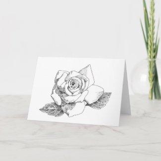 White Rose Notecard