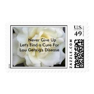 White_Rose,      nunca da para arriba   nos dejó Sello Postal