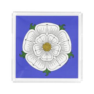 White Rose of York Acrylic Tray