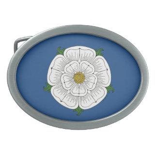 White Rose of York Belt Buckle