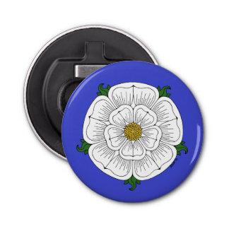 White Rose of York Bottle Opener Button Bottle Opener