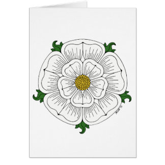 White Rose of York Card