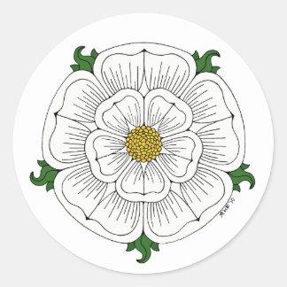 White Rose of York Classic Round Sticker