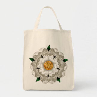White Rose of York Grocery Tote Bag