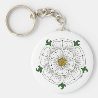 White Rose of York Keychain