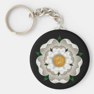 White Rose of York Keychain