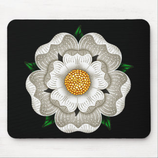 White Rose of York Mouse Pad
