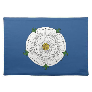 White Rose of York Placemat Cloth Place Mat