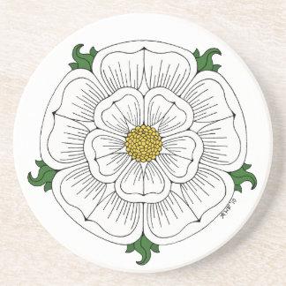White Rose of York Sandstone Coaster