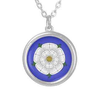 White Rose of York Silver Plated Necklace