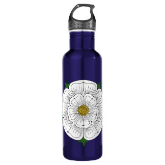 White Rose of York Stainless Steel Water Bottle