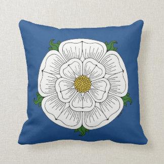 White Rose of York Throw Pillow