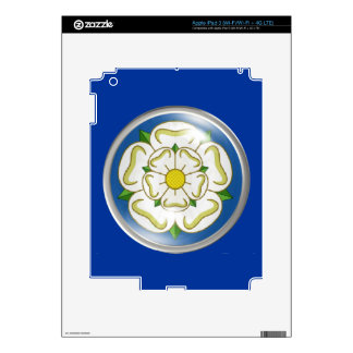 White Rose of Yorkshire Flag Decals For iPad 3