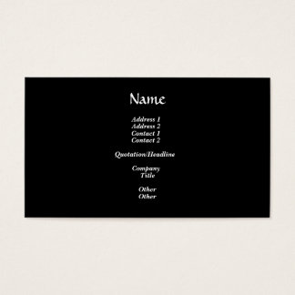 White Rose on Black and Gold Background Business Card