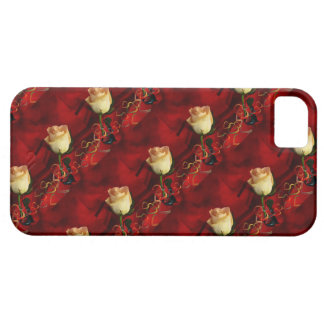 White rose on red background iPhone 5 cover