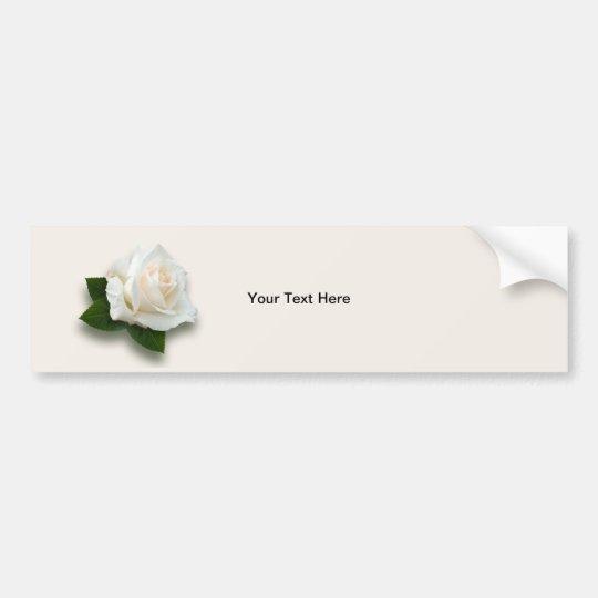 White Rose 'Pascali' Bumper Sticker