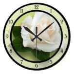White Rose 'Pascali' Round Wallclocks