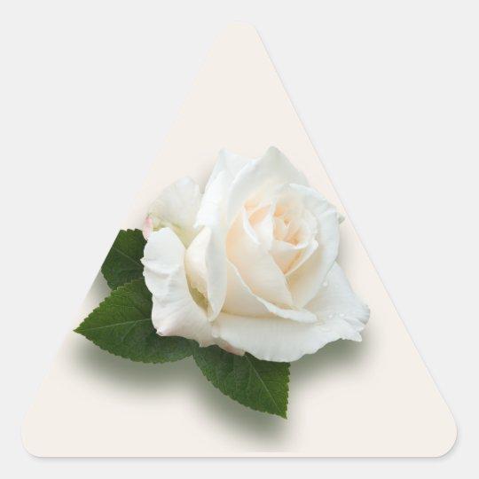 White Rose 'Pascali' Triangle Sticker