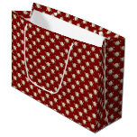 White Rose Pattern (maroon) Large Gift Bag