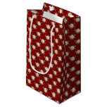 White Rose Pattern (maroon) Small Gift Bag