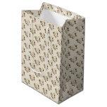 White Rose Pattern (sand) Medium Gift Bag