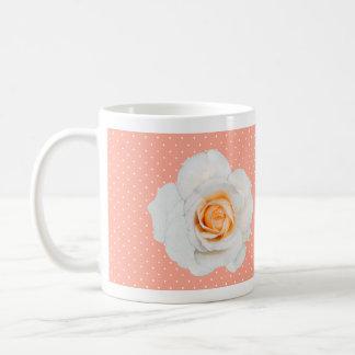 White Rose Peach Mug