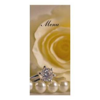 White Rose, Pearls and Ring Wedding Menu