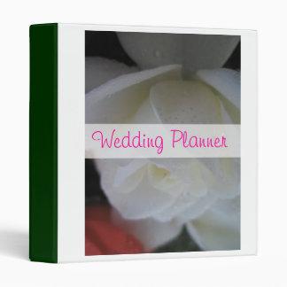 White Rose Petal Wedding Planner Binder