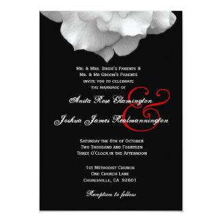 WHITE Rose Petals Wedding Template F002