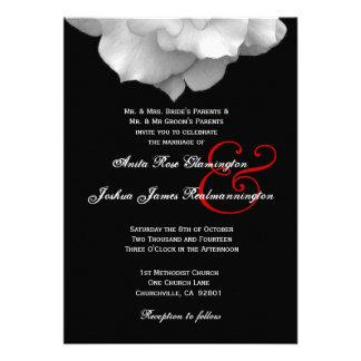 WHITE Rose Petals Wedding Template F002 Personalized Invites