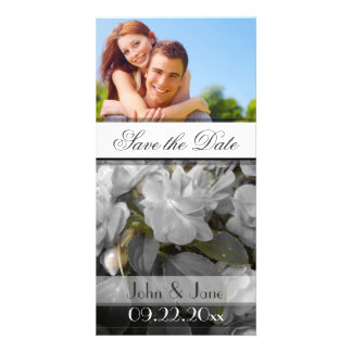 """White Rose  /photo  """"Save the Date"""" Photo Cards"""