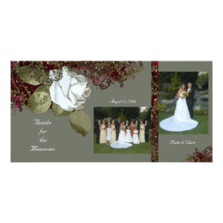 White Rose Photo Template