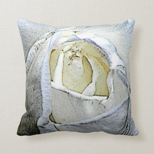 White Rose Photo Throw Pillow