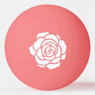 White Rose Ping Pong Ball