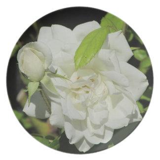 White Rose Plate