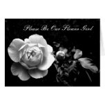 White Rose Please Be Our Flower Girl Greeting Cards