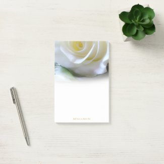 White Rose Post-it Notes
