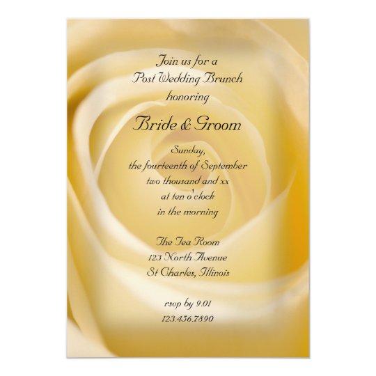 White Rose Post Wedding Brunch Invitation
