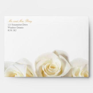 White Rose Print Envelope